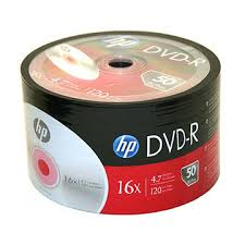 DVD R HP+cone 50pcs