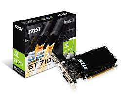 MSI GT 710 2 GB DDR3  2 Gd3h lp  64 bit
