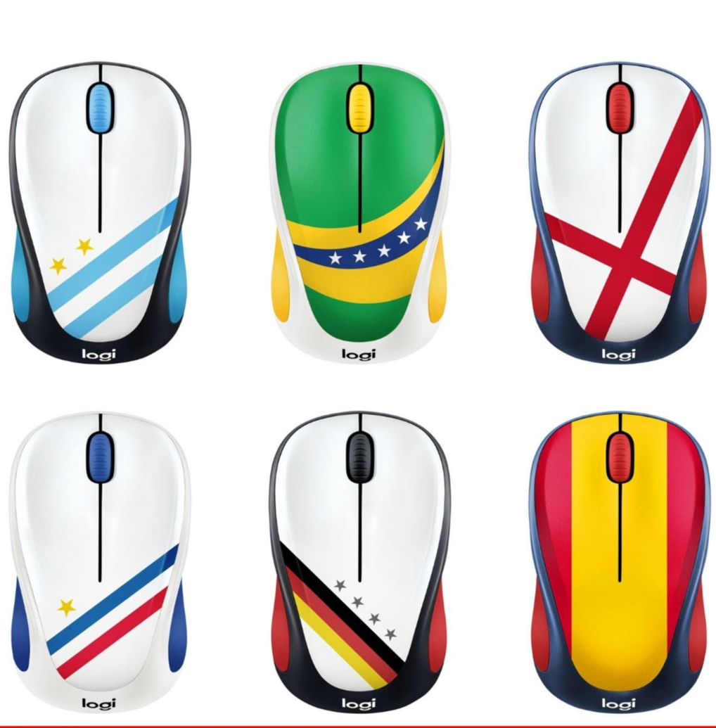 Mouse Wireless Logitech edisi world cup M238