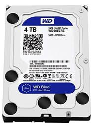 WD blue 4TB  SATA3 chace 64 mb